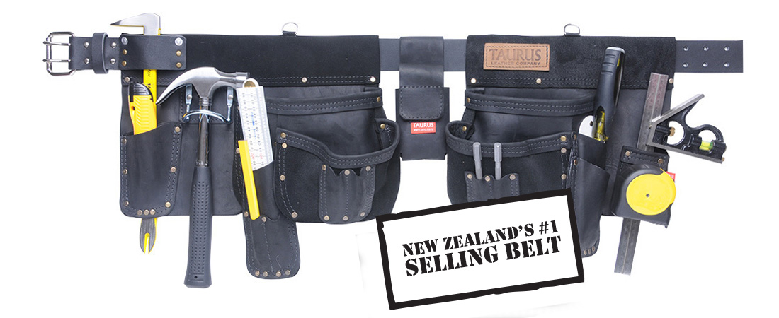 Taurus leather, heavy duty tool belt apron